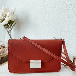 Zara Women Bag | Red Purse with Removable Wallet